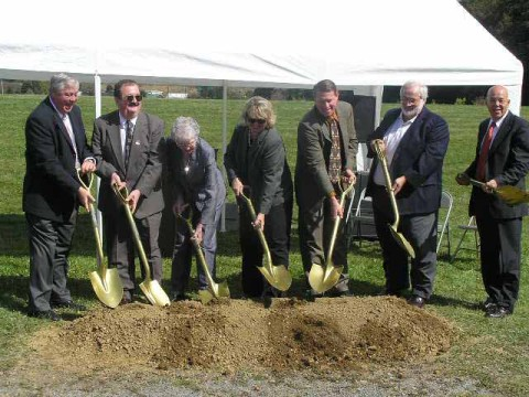 Ebensburg Tennis Center Ground Breaking