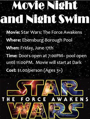 pool swim night