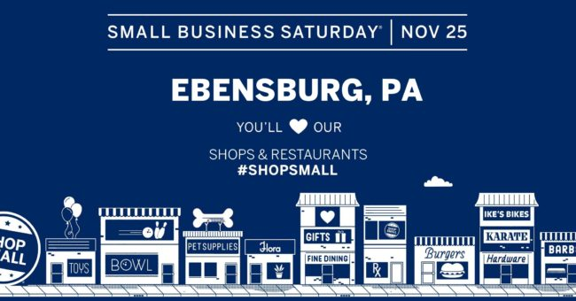 Shop Small in Ebensburg – Small Business Saturday, Nov. 25th