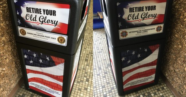 """Retire Your Old Glory"" at the Ebensburg Municipal Office"
