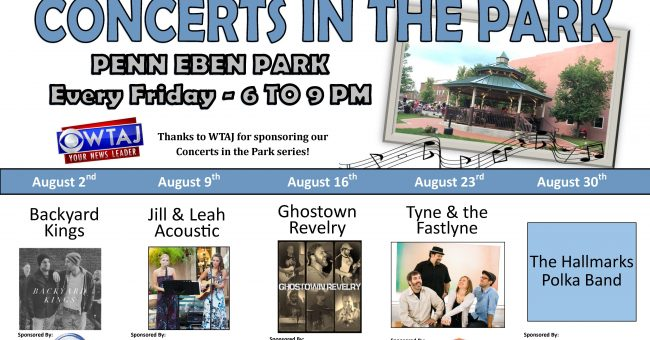 Concerts in the Park – Every Friday in August