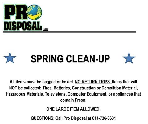 Middlesex Borough Garbage Pick Up Photos And Description