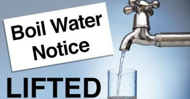 BOIL WATER NOTICE HAS BEEN LIFTED