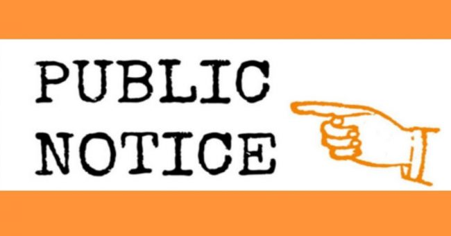 Public Meeting Notices – Monday, March 30th