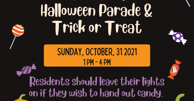 Halloween Parade & Trick-or-Treat – October 31st